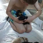 Australian Labradoodle and Fabian